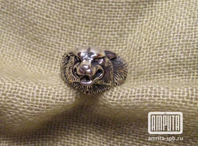 Артикул s2025 кольцо оберег волк серебро